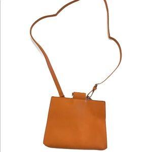 "Zara women's crossbody bag 10""x8"" pumpkin color"